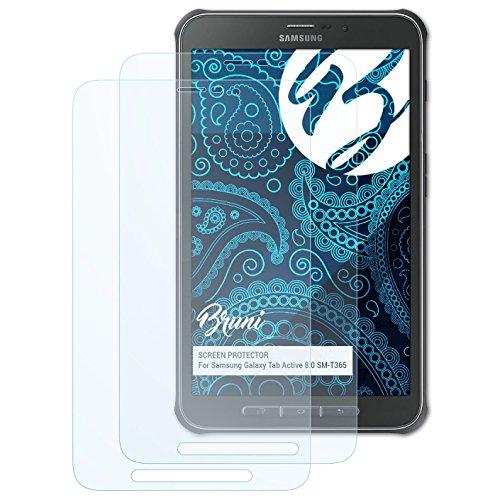 Bruni Schutzfolie für Samsung Galaxy Tab Active 8.0 SM-T365 Folie, glasklare Displayschutzfolie (2X)