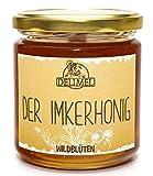 Delimel Wildblütenhonig 500g - Naturbelassener Imker-Honig (vorw. aus Christusdorn, Akazie, Klee) ausgezeichnet mit 2 goldenen Sternen im Superior Taste Award 2018 - Regionales Produkt aus Südbulgarien - 100% rein und natürlich, aromatisch, schmeckt fein lieblich, Natur pur direkt vom Imker