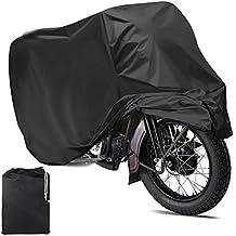 Mture Fundas Para Motocicleta Impermeable Anti UV Cubierta para Moto Protector contra Lluvia y Polvo Para Motocicleta 265x105x125CM - Negro