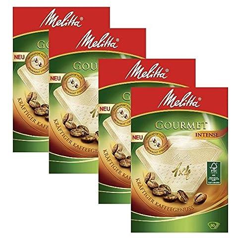 4boîtes de Melitta Taille 1x 4filtres à café Gourmet Intense, Lot de 80