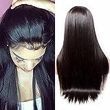 Maxine 180% Dichte Lace Front Perücken unbehandeltes brasilianisches Echthaar Haar gerade klebefreien kurze Bob Menschliches Haar Perücken mit Baby Haar für schwarz Frauen Kurz gewellt Spitze Perücken
