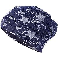 Sombrero Mujer Invierno Elegante ❄ Sonnena Sombrero Hombres Mujeres Estrellas Sombrero de Invierno de Punto cálido de Ganchillo Sombrero holgazán de esquí Beanie Skull