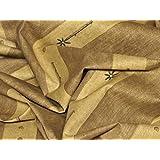 Tela de tapicería, tela de tapicería, tela de tapicería, tela, tela de la cortina, tela de algodón pesado decente - línea moderna, Timba, beige-marrón - en una mirada de lino