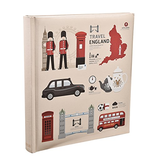 Arpan 5 x 7 Grande slittamento Nel caso Memo rilegati album di foto per 120 Foto - Londra icone del design