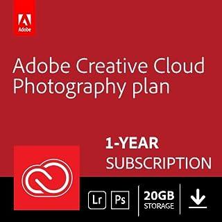 Adobe Creative Cloud Photography plan 20GB: Photoshop CC + Lightroom CC | 1 Year | PC/Mac | Download