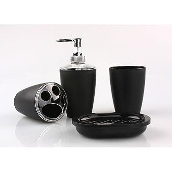 accessoire salle de bain amazon pixnor 4 pi ces salle de bain accessoire set distributeur