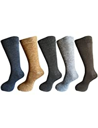 RC. ROYAL CLASS Men's Calf Length Solid Woolen Warm Winter Socks (Pack of 5 Pairs)