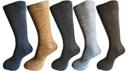 RC. ROYAL CLASS Warm Woolen socks for Men in assorted colors (pack of 5) winter wear socks
