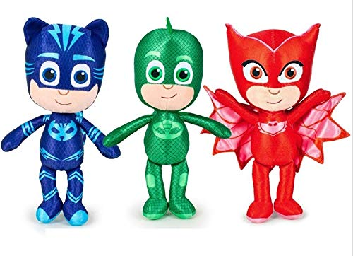 Pyjamasques Peluche à l'effigie des héros du dessin animé, au choix, 38cm Catboy