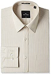 Park Avenue Mens Formal Shirt (8907663194973_PMSX09627-F2_Light Fawn_39)