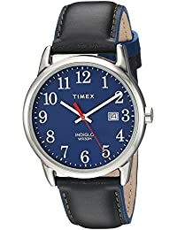 5dc21b222488 Timex Reloj Analógico para Unisex Adultos de Automático con Correa en Cuero  TW2R62400