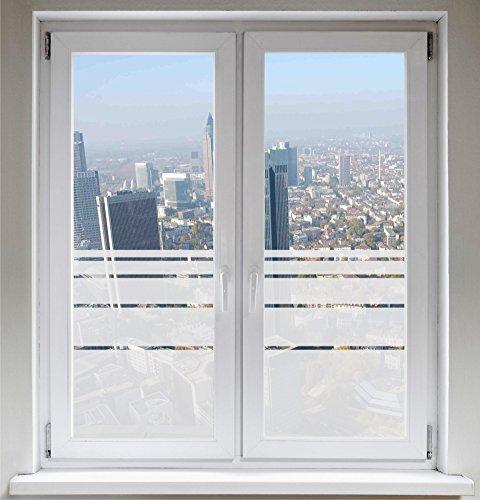 INDIGOS UG Sichtschutzfolie Fensterfolie Glasdekorfolie Dynamische Streifen satiniert blickdicht ORACAL® - 1000mm Breite x 500mm Höhe - auch mit Individueller Breite