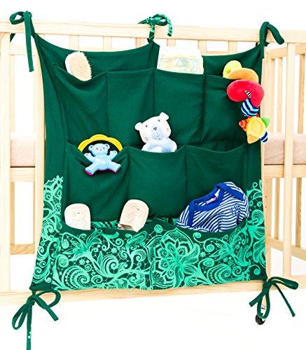 Preisvergleich Produktbild Halten sie ihr Babyzimmer sauber & ordentlich mit dem Babypeta Organizer - hängender Wickel Organizer für Windeln, Schnuller & andere Baby Produkte, perfekt fürs Babybett & Wickeltisch grün