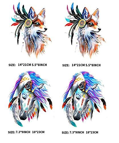 ärmeübertragung, Character hot Fox Farbe Pferd Flugzeug Druckmuster, T-shirt waschbar ()