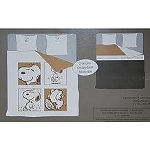 Juego Funda de edredón Reversible Snoopy 2personas 240x 220cm y 2fundas de almohada 65x 65cm)