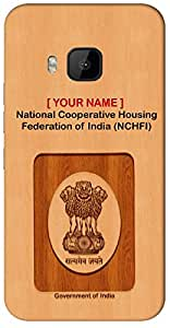 "Aakrti Mobile Back cover with your Dept: National Cooperative Housing Federation of India (NCHFI).Express Association in your way With "" Your Name "" Printed on your Smart Phone : Motorola Moto-X (1st )"