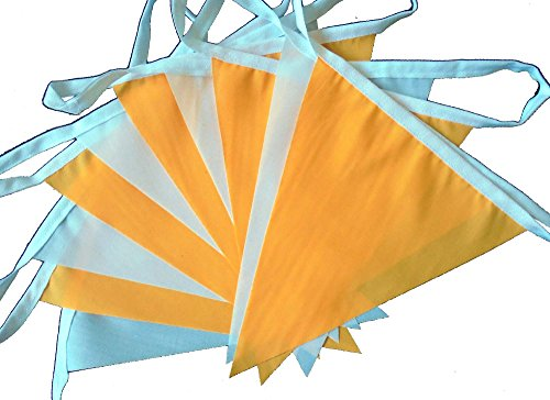 9-mtrs-30-flags-light-orange-and-white-fabric-bunting-banner-garland
