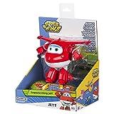 Super Wings - Jett, personaje transformable, 14.5 cm, color rojo y blanco (ColorBaby 75872)