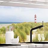 StickerProfis Küchenrückwand selbstklebend Premium NORDSEE 60 x 220cm DIY - Do It Yourself PVC Spritzschutz