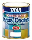 Titan M112275 - Esmalte azulejos baño-cocina blanco 750 ml