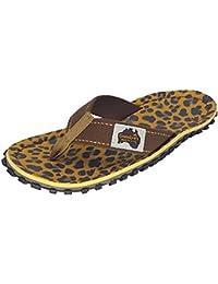 Gumbies Zehentrenner, Unisex, Farbe: Leopard, Größe: 40