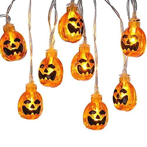 ZYCX123 LED-Fee-Schnur-Licht-3D Kürbis 10 LEDs Halloween-Dekoration-Licht Batteriebetriebene Benötigt 2 x AA Batterien (nicht im Lieferumfang enthalten)