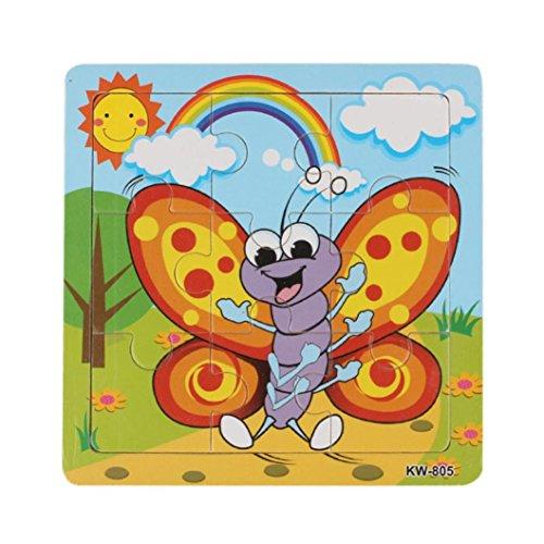 Koly Giocattoli di puzzle in legno per bambini Istruzione e apprendimento Puzzle Giocattoli (06)