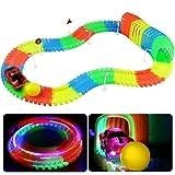 Pista Macchinine Luminosa Giocattolo- Pista Cars Macchinine Magiche Tracks Pista Cars Glow Track Auto per Bambini 3 4 5+