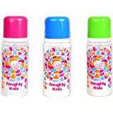 Premium PP Feeding Bottle With Premium LSR Nipple And SPOUT- Combo Of Green+Pink+BLUE-250ML