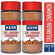 Keya Pure & Natural Sri Lankan Cinnamon Powder with Genuine Source Certification, 50g (Pack of 2)