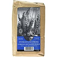 Bacheldre Watermill Organic Stoneground Strong Unbleached White Flour 1.5 kg (Pack of 4)