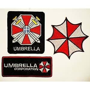 Ecusson brode 3 Pcs. Resident Evil Umbrella Corporation Gestickte Patches Sew/iron on Vendu de R.M.A.