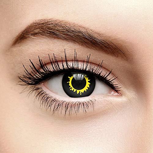 EDIT Tageslinsen Wolf Farbige Kontaktlinsen Ohne Stärke (Schwarz) (Wolf Kostüm Augen Make Up)