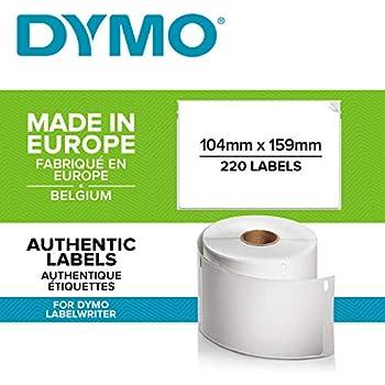 220 Etichette//Rotolo Printing Saver 3x S0904980 104 x 159 mm compatibili rotoli etichette extralarge per spedizioni per Dymo LabelWriter 4XL