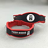 Golfeur Tiger Woods Signature inspirante Double Couche édition commémorative Bracelets Bracelet de Sport en Silicone réversible 5 Pcs