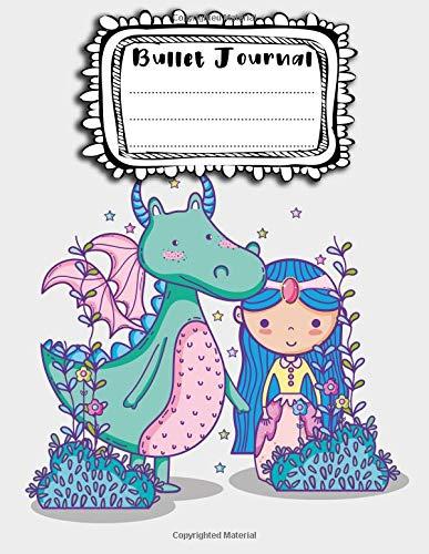 Bullet Journal: A4 - 156 paginas - Princesas - Caballeros - Hadas - Unicornios - Cuento de hadas (156 paginas en blanco numeradas, punteadas y dot grid / bullet journal) por AEhor