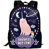 best& Vintage Cat Unicorn In Space College Laptop Backpack Student School Bookbag Rucksack Travel Daypack