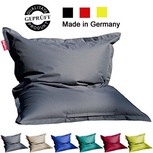 4 Trendy Living Sitzsack/Bag / Sitzkissen/LazyBag / In- u. Outdoor geeignet / 125x160cm / grau...