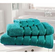 Toalla de algodón egipcio Extra suave PREMIUM 600gsm Kensington banda satinada 4 unidades toalla de mano
