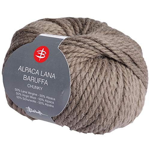 dccc3500 Chunky Alpaca Yarn - Italian Merino Wool by Zegna Baruffa Lane Borgosesia  100g (2 x 50g) … (Truffle)