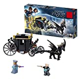 YK GAME Das magische Biest Grindelwalds Escape Carriage Toy, Harry Potter Gift, Build and Play mit Kinderspielzeug