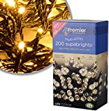 premier 200 LED Supabright Lights with Cable
