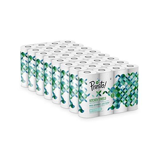 Marque Amazon - Presto! Rouleaux d'essuie-tout TAD - Lot de 32 (32 x 51 feuilles double épaisseur)