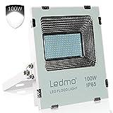 LEDMO® Led strahler aussen Fluter Kaltweiß 100W,Super Hell 9000LM, LED Außenstrahler Flood light CRI>80 IP65 wasserdicht Scheinwerfer Flutlicht