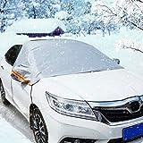 Audew Auto Windschutzscheibe Abdeckung Frontscheibe Abdeckung Scheibenabdeckung gegen Schnee, Frost, Sonnen, Regen, Eis, Staub, L