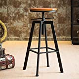 Best Bar Stools - Xpork 1PCS Bar Stool Footrest Round Wooden Seat Review