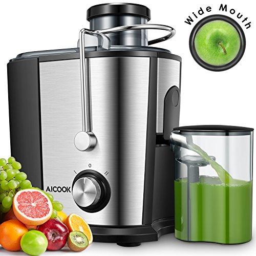Aicook Licuadoras para Verduras y Frutas, 600W Licuadora con 65MM de Boca Ancha, Extractor de Jugos...