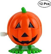 BESTOYARD Springen Kürbisse für Halloween Kinder Geschenk 12 Stücke (Orange)