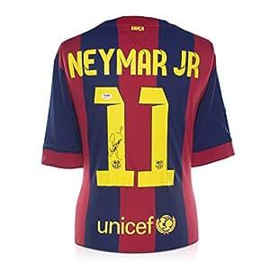 Neymar Jr Signé Barcelone 2014-15 Football maillot