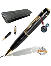 MACHSMART Full HD True Stylish Golden Black Ball Point Pen Hidden Camera With Free Card Reader & Car Non Slip...